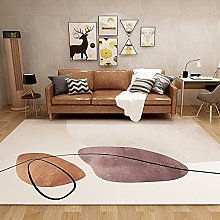 GNLK Bedroom Rug, Modern Orange Abstract Geometric