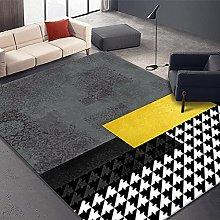 GNLK Bedroom Rug, Retro Black White Houndstooth