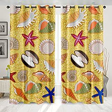 GNLK Curtain,Blackout Thermal Insulated Creative