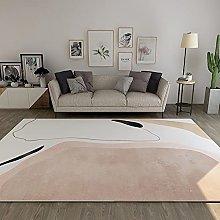 GNLK Large Rug, Modern Modilan Pink Abstract