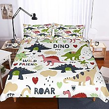 GNNSITT bed covers double set Dinosaur cute