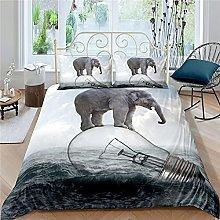 GNNSITT bed covers double set Light bulb ocean