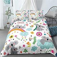 GNNSITT bedding Cute cartoon animal bear 135x200cm