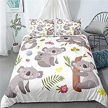 GNNSITT bedding Cute cartoon animal bear 155x200cm