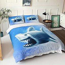 GNNSITT bedding double bed Cartoon shark animal