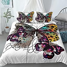 GNNSITT bedding double bed Color butterfly animal