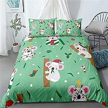 GNNSITT double bedding duvet set Cute cartoon