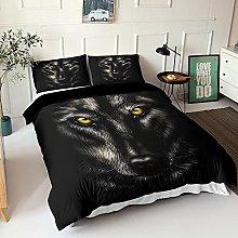GNNSITT double duvet cover Black animal wolf