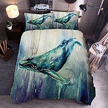 GNNSITT double duvet cover sets Blue animal whale