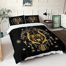 GNNSITT double duvet cover sets Golden animal wolf