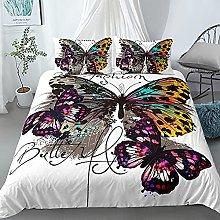 GNNSITT double duvet sets Color butterfly animal