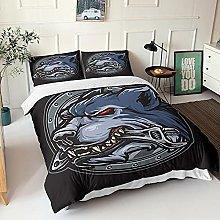 GNNSITT duvet covers Animal wolf wrench 240x220cm