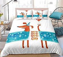 GNNSITT duvet covers double bed Cartoon cute