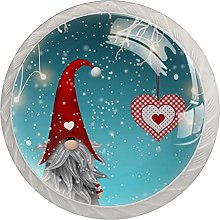 gnome Christmas (4 Pieces) Cabinet Knobs with