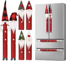 Gnome Christmas Refrigerator Handle Covers Set of