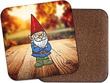 Gnome Garden Grumpy Cork Backed Drinks Coaster for