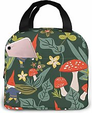 Gnome Lunch Bag,Reusable Insulated Lunch Bag
