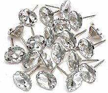 GO-AHEAD Push Pins 20Pcs Diamond Pattern Crystal