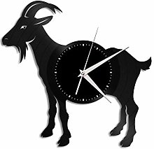 Goat vinyl wall clock, vinyl record home