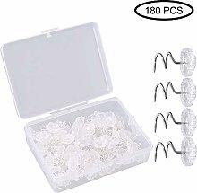 Gobesty Clear Heads Twist Pins, 180pcs Plastic