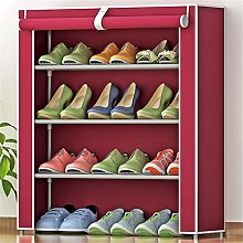 GOCF Portable Shoe Rack 12 Pairs Non-Woven Fabric