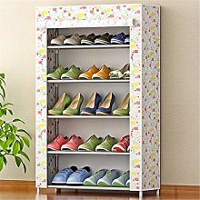 GOCF Portable Shoe Rack 15 Pairs Non-Woven Fabric