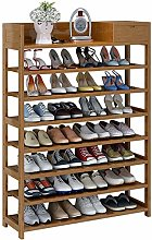 GOCF Portable Shoe Rack 8-Tier Entryway Shoe Rack