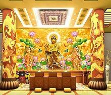 God Buddha Nanhai Guanyin Bodhisattva 3D Hd Mural