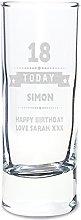 God Divine Personalised Birthday Star Shot Glass