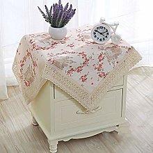 GODXMDD Floral print Tablecloth,Square Lace