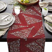 GodYo Table Runner Cotten Linen Christmas Theme
