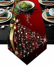 GodYo Table Runner Cotten Linen Merry Christmas