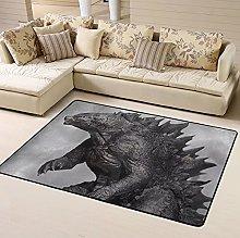 Godzilla Kaiju Area Rug Floor Rugs Living Room