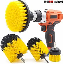 GOH DODD Drill Brush, 4 PCS Yellow Power Scrubber