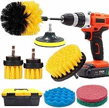 GOH DODD Drill Brush and Scrub Pads,11 PCS Yellow