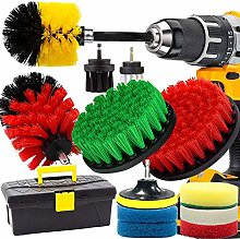 GOH DODD Drill Brush and Scrub Pads, 15 Pieces