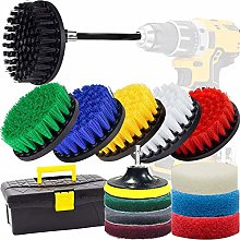 GOH DODD Drill Brush and Scrub Pads, 16 Pieces