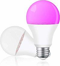 Gojiny 1PC E27 Plant Grow Light Bulb 9W 12LEDs