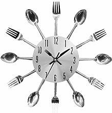 Gojiny Creative Knife and Fork Wall Clock, Metal