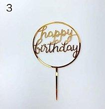 Gold Acrylic Cupcake Cake Topper Happy Birthday