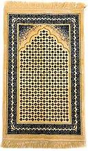 GOLD/BLACK Beautiful Turkish Prayer Mat Janamaz