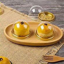 Gold Black Clear Plastic Mini Cupcake Boxes