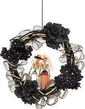 Gold & Black Door Wreath