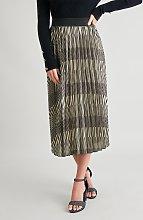 Gold & Black Pleated Skirt - 8