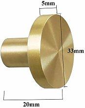 Gold Brass Kitchen Cabinet Knobs Round Drawer Knob