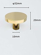 Gold Brass Simple Cabinet Knob Handle Round
