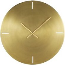 Gold brushed metal clock D76cm