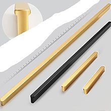 Gold Cabinet Door Handles with Round Head Black