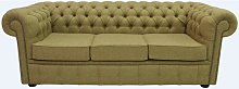 Gold Chesterfield Arnold Moons Wool 3 Seater sofa