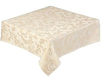 Gold Christmas Tablecloth 70 x 120 inch (178 x 305